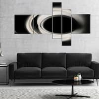 Designart 'Fractal White on Black Background' Abstract Wall Art Canvas