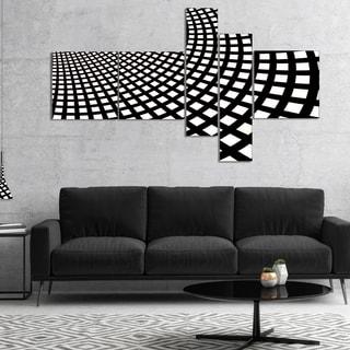 Designart 'Fractal Square Pixel Mosaic Illustration' Abstract Wall Art Canvas
