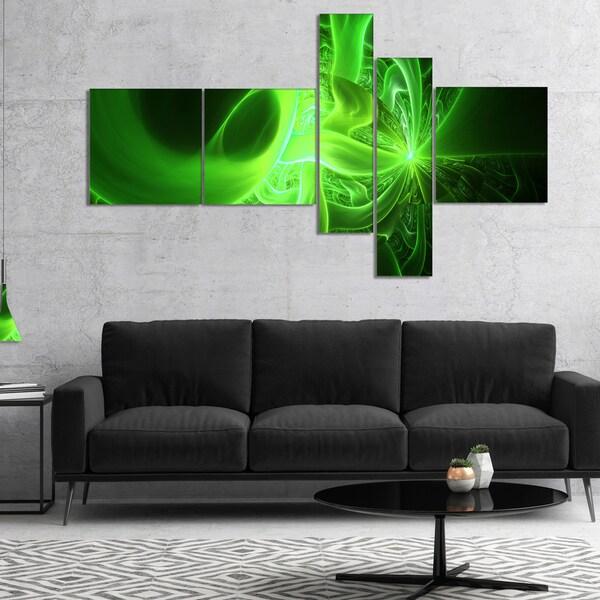 Designart X27 Bright Green Designs On Black
