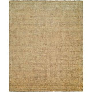 Avalon Buff Wool/Viscose Handmade Area Rug (9' x 12')
