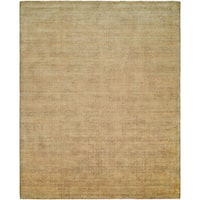 Avalon Buff Wool/Viscose Handmade Area Rug (9' x 12') - 9' x 12'
