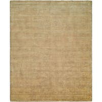 Avalon Buff Wool/Viscose Handmade Area Rug (9' x 12')