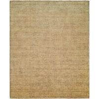Avalon Buff Wool/Viscose Handmade Area Rug - 9' x 12'