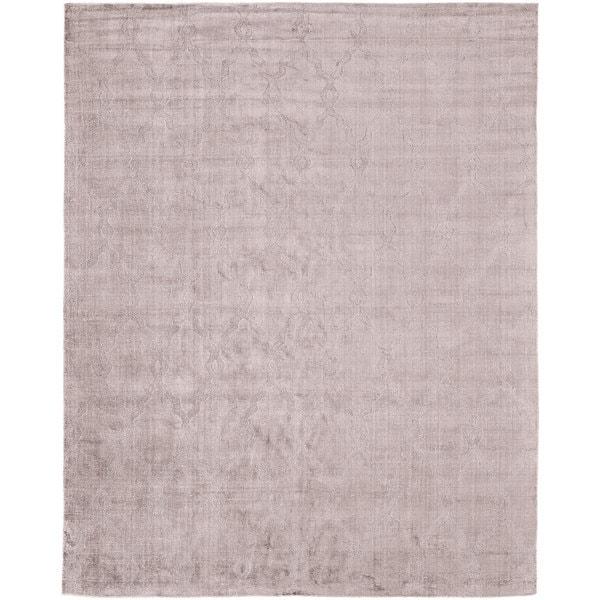 Shop Avalon Pink Wool/Viscose Handmade Area Rug