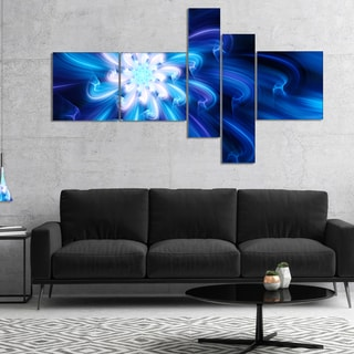 Designart 'Exotic Blue Flower Dance of Petals' Floral Canvas Art Print