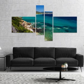 Designart 'Beautiful Greek Beach of Sea' Seashore Canvas Art Print