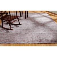 "Aero Wisteria Marl Purple Viscose Handmade Area Rug (7'6 x 9'6) - 7'6"" x 9'6"""