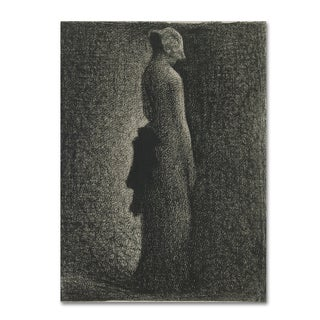 Georges Seurat 'The Black Bow' Canvas Art