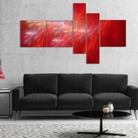 Designart 'Mystic Red Thunder Sky' Abstract Canvas Art Print