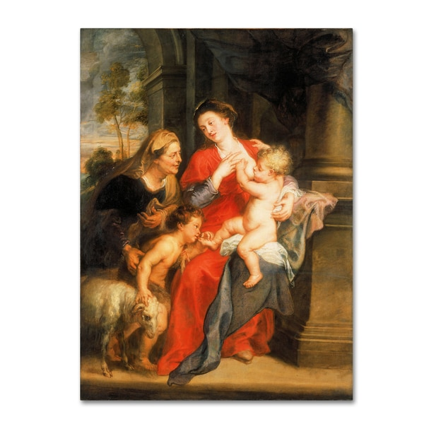 Peter Paul Rubens 'The Virgin And Child' Canvas Art