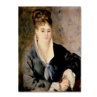 Renoir 'Woman In Black' Canvas Art