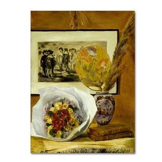 Renoir 'Still Life With Bouquet' Canvas Art