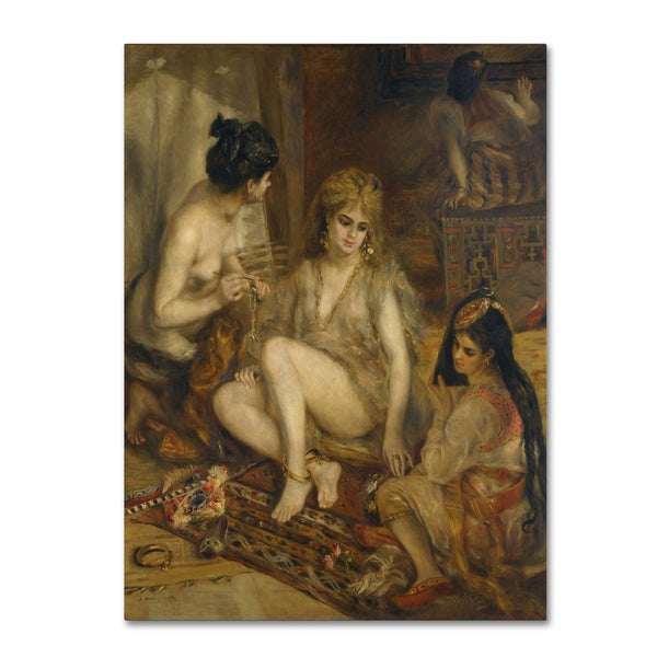 Renoir 'Parisiennes In Algerian Harem' Canvas Art