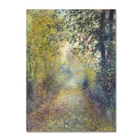 Renoir 'In The Woods' Canvas Art