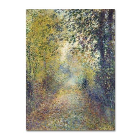 Renoir 'In The Woods' Canvas Art