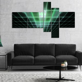 Designart 'Light Green Bat on Radar Screen' Abstract Canvas Art Print