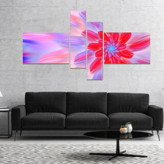 Designart 'Dance of Fractal Pink Petals' Abstract Wall Art Canvas