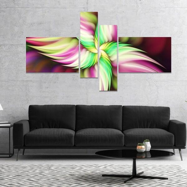 Designart 'Huge Rotating Pink Flower' Floral Canvas Art Print