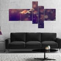 Designart 'Cute Vintage Flower With Bokeh' Floral Canvas Art Print - Purple