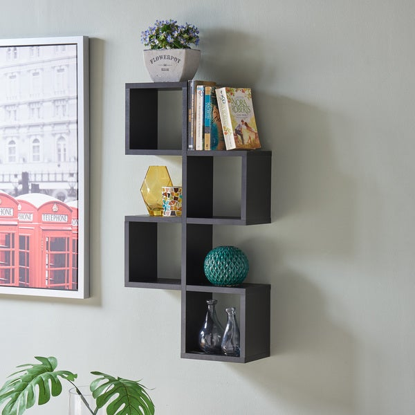 Danya B. Cubby Chessboard Wall ShelfBlack