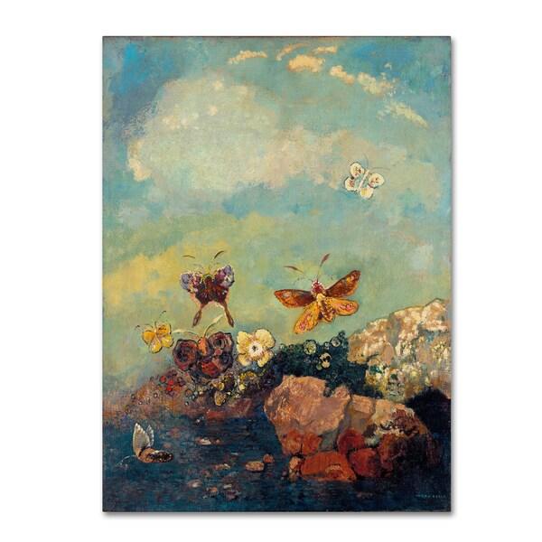 Odilon Redon \'Butterflies\' Canvas Art - Free Shipping Today ...