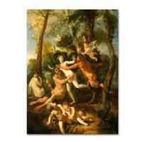 Nicolas Poussin 'Pan And Syrinx' Canvas Art