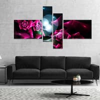 Designart 'Pink Bouquet of Beautiful Roses' Abstract Canvas Art Print