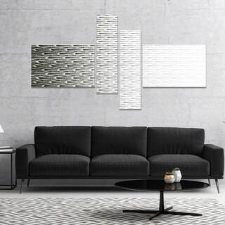 Designart 'White Symmetrical Fractal Flower' Abstract Canvas Art Print