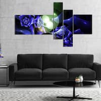 Designart 'Blue Bouquet of Beautiful Roses' Abstract Canvas Art Print