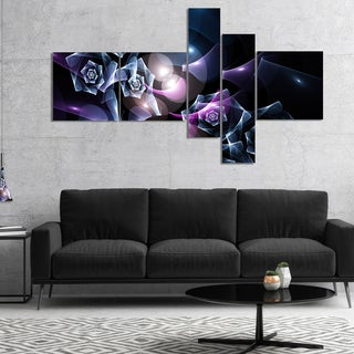 Designart 'Glowing Bouquet of Beautiful Roses' Abstract Canvas Art Print