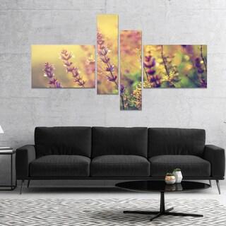 Designart 'Vintage Photo of Wild Purple Flower' Floral Canvas Art Print