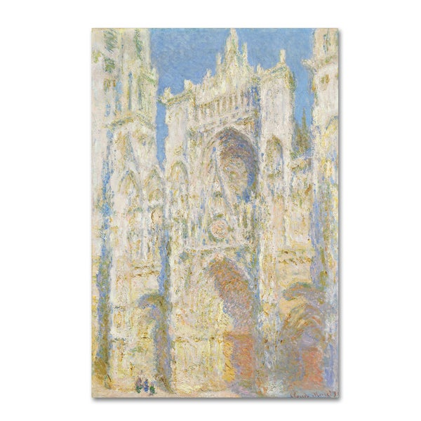 Monet 'Rouen Cathedral In Sunlight' Canvas Art