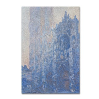 Monet 'Rouen Cathedral Facade' Canvas Art
