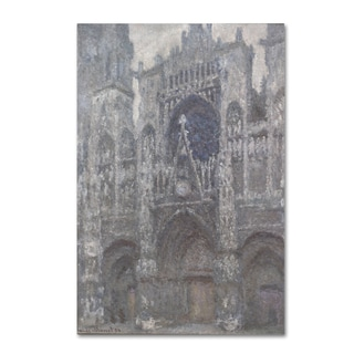 Monet 'Rouen Cathedral Grey Weather' Canvas Art