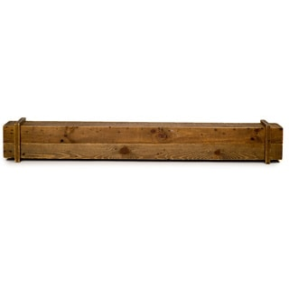 Cavalli Brown Wood 45-inch Rustic Mantel Shelf