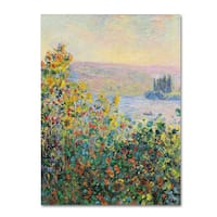 Monet 'Flower Beds At Vetheuil' Canvas Art
