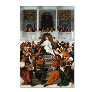 Ludovico Mazzolino 'Christ Teaching In The Temple' Canvas Art