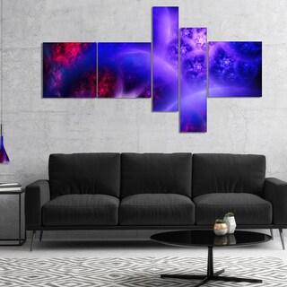 Designart 'Bright Blue Magic Stormy Sky' Abstract Canvas Art Print