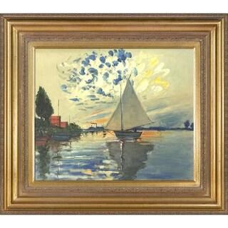 Claude Monet Le Petit-Gennevilliers Hand Painted Oil Reproduction