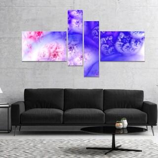Designart 'Light Blue Magic Stormy Sky' Abstract Canvas Art Print