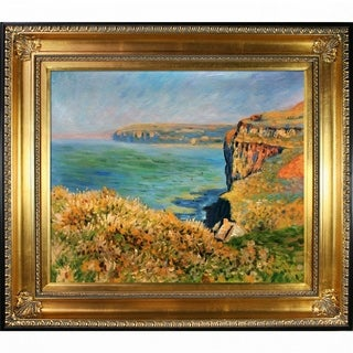 Claude Monet Cliff at Grainval Hand Painted Oil Reproduction