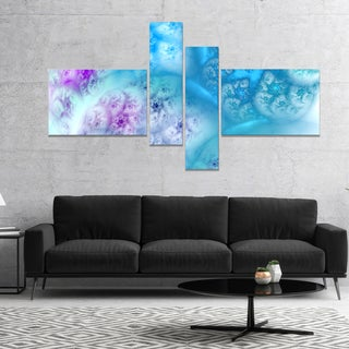Designart 'Clear Blue Magic Stormy Sky' Abstract Canvas Art Print