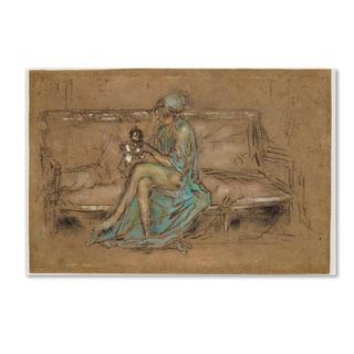 Whistler 'The Green Cap' Canvas Art