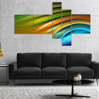 Designart 'Colorful Fractal Water Ripples' Abstract Canvas Print Art