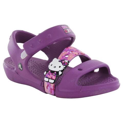 Crocs Girls Keeley Hello Kitty Camo Sandals