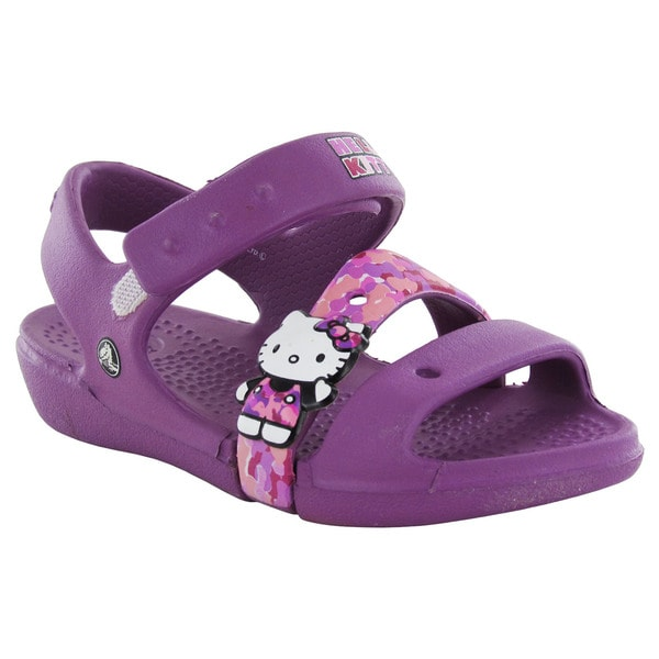 0934a3fa70d6ca Shop Crocs Girls Keeley Hello Kitty Camo Sandals - Free Shipping On ...