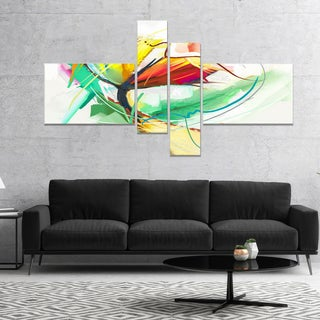 Designart 'Still Life of Yellow Red Color Flower' Floral Canvas Art Print