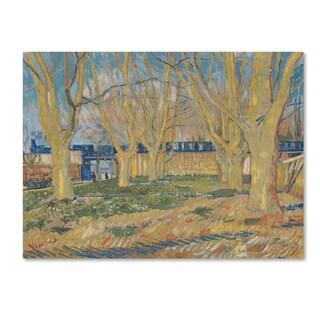 Van Gogh 'The Blue Train' Canvas Art