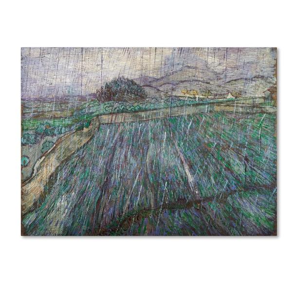 Van Gogh 'Rain' Canvas Art