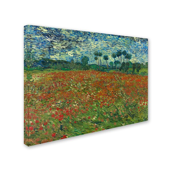 Vincent van Gogh Poppy field  Giclee Canvas Print